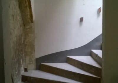 RÉHABILITATION BATIMENT DE BUREAUX EN CABINET DE KINÉ ET ATELIERLOGEMENT PARIS 11 - Chantier aménagement - Bertrand Lefebvre Architectures